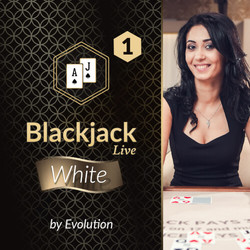Blackjack White 1 by Evolution