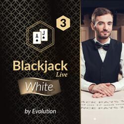 Blackjack White 3 by Evolution